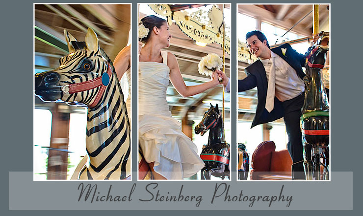Akron wedding photographer Michael Steinberg photography of Carousel Museum in Massillon Ohio
